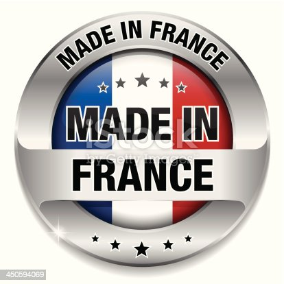istock Made in france button 450594069