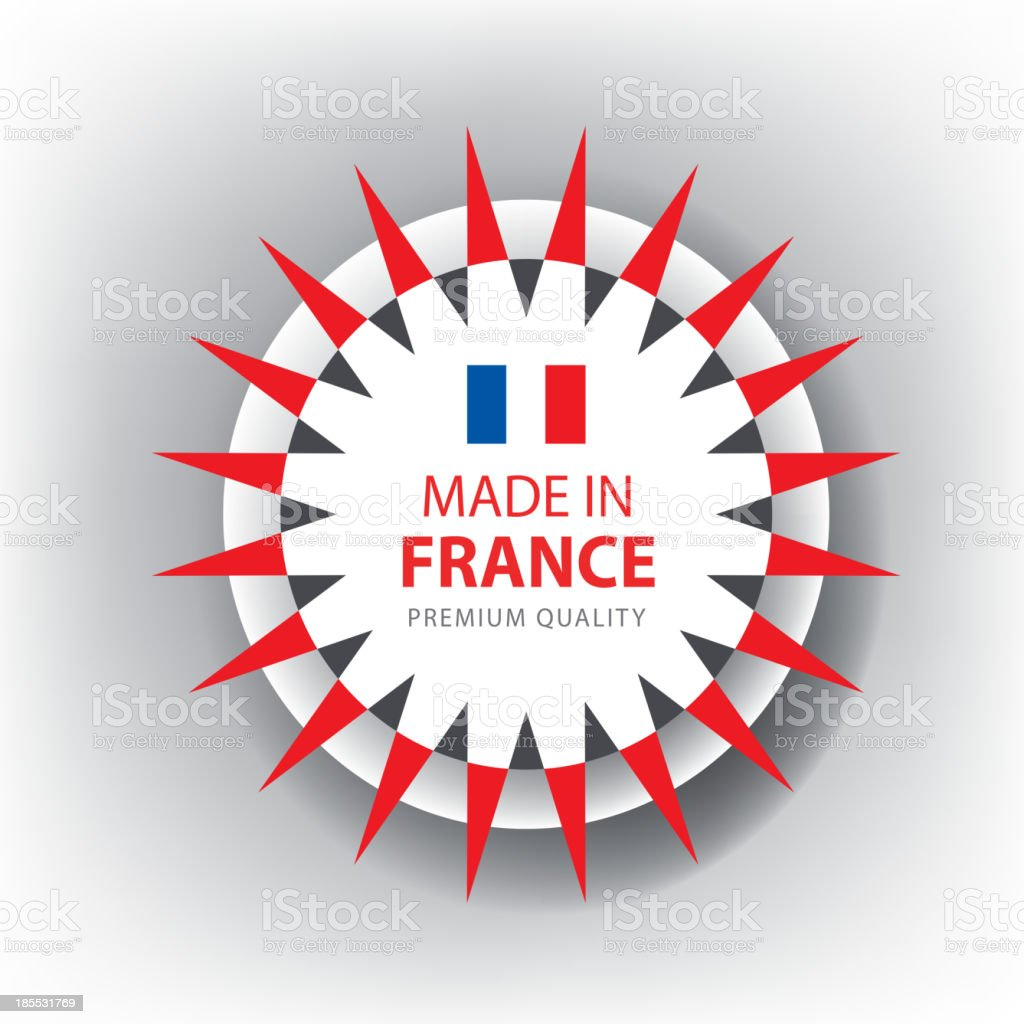 Made in FRANCE, French seal, Flag, (Vector) royalty-free stock vector art