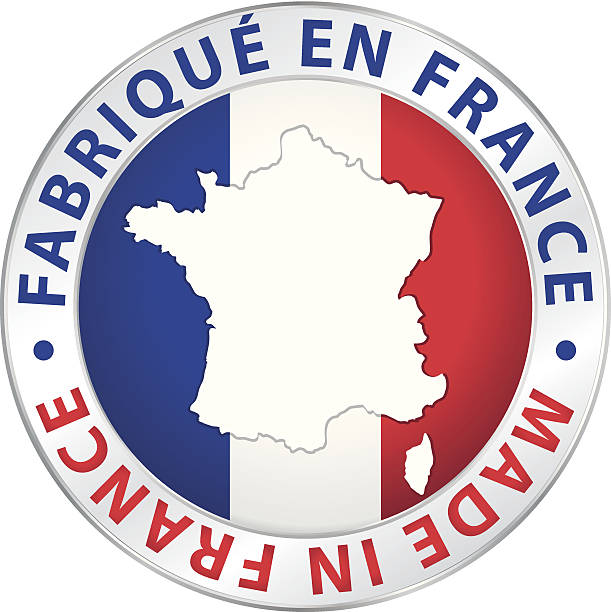 Made in France. Guaranteed vector label. Made in France. Guaranteed vector label. french culture stock illustrations