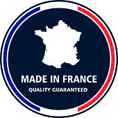 Made in France quality stamp. Vector illustration