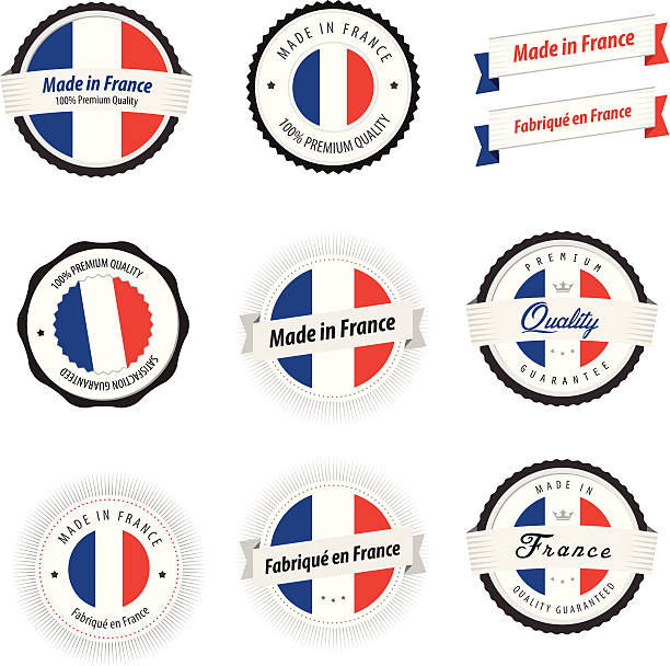 Made in France. Set of labels, badges and stickers Made in France. Set of labels, badges and stickers. making stock illustrations