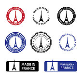 istock Made in France stamps 1227381325