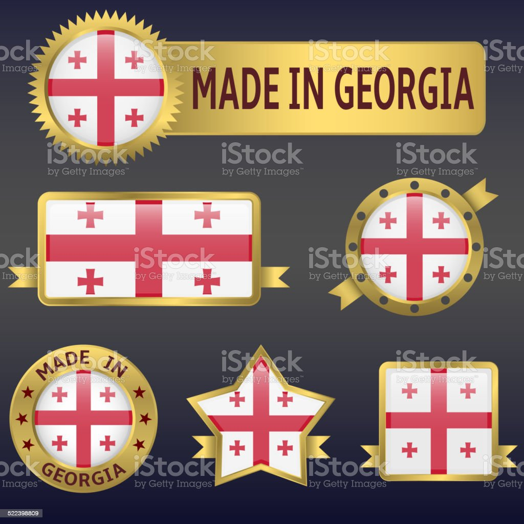 made in Georgia vector art illustration