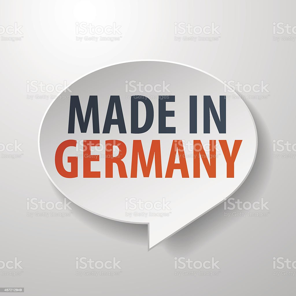 Made in Germany 3d Speech Bubble royalty-free made in germany 3d speech bubble stock vector art & more images of abstract