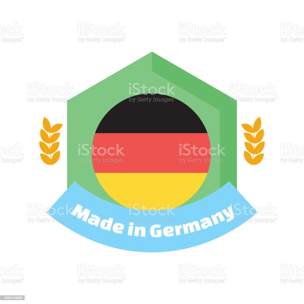 Realizado en Alemania etiquetas y distintivos. ilustración de realizado en alemania etiquetas y distintivos y más banco de imágenes de alemania libre de derechos