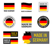 made in Germany icon set, German product labels