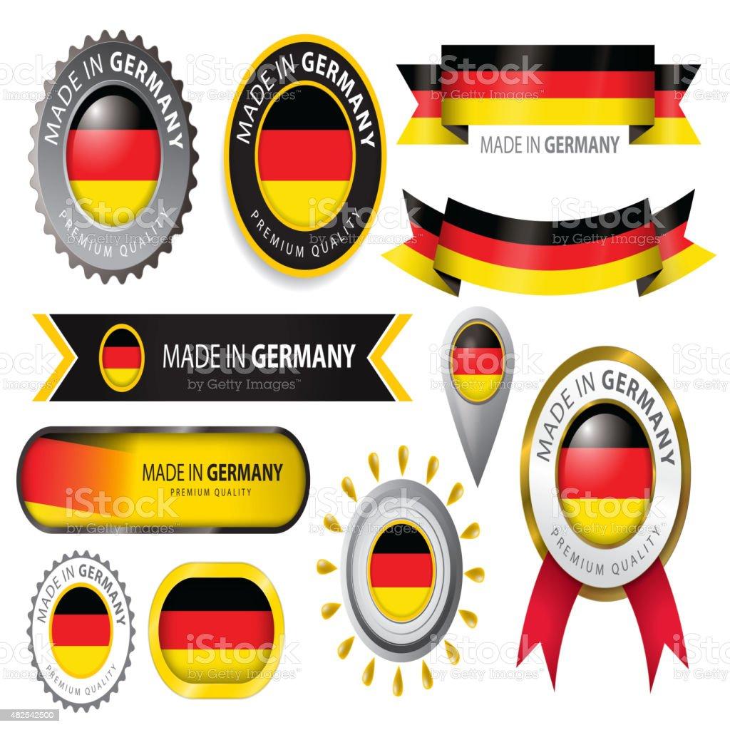 Realizado en Alemania, junta, de bandera alemana (arte vectorial) - ilustración de arte vectorial