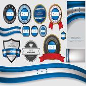 Made in Honduras Seal, Republic of Honduras Flag (Vector Art)