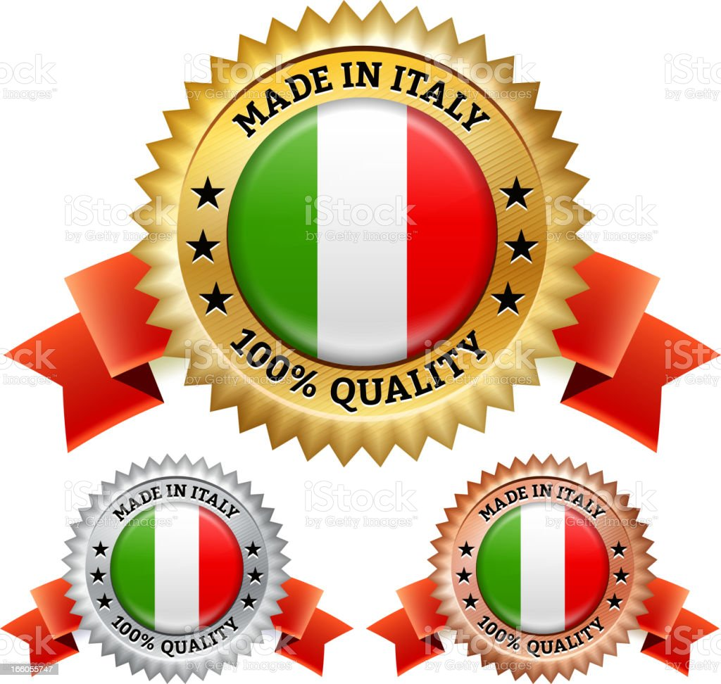 Made in Italy Badge royalty free vector icon set royalty-free stock vector art
