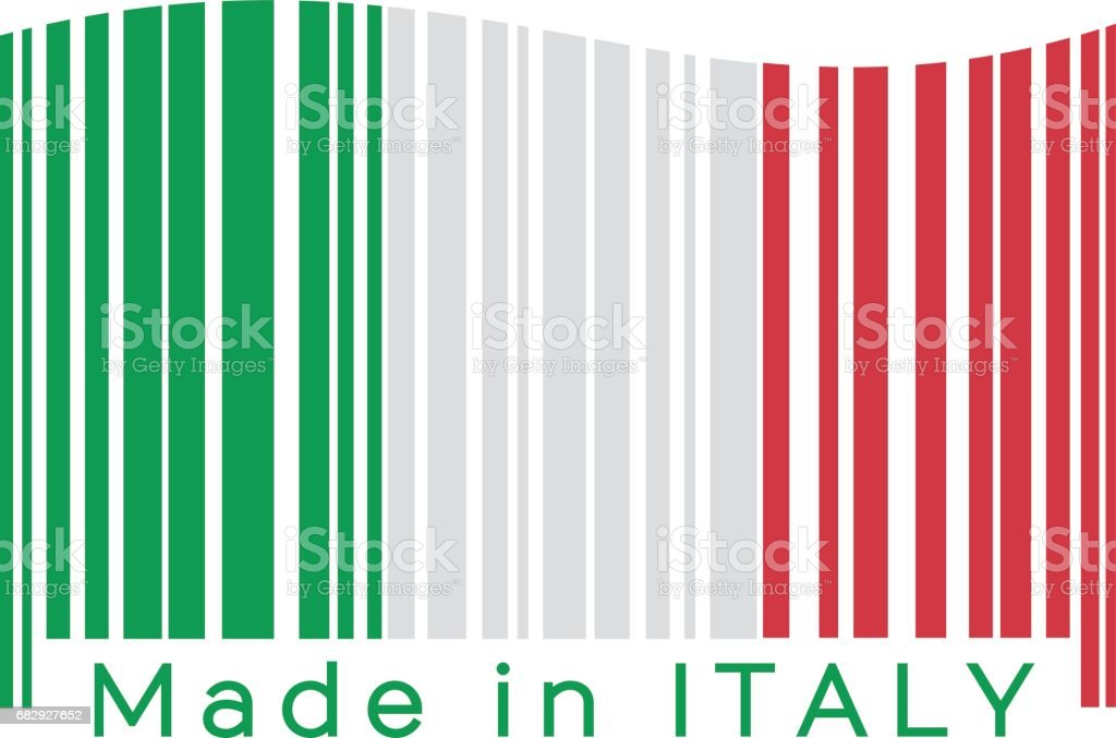 Made in Italy. Barcode royalty-free made in italy barcode stock vector art & more images of bar code