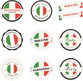 Made in Italy. Set of labels and badges.