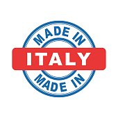 Made in Italy. Vector emblem flat