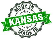 made in Kansas round seal