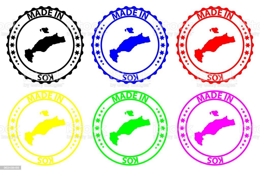 Fait à Kos rubber stamp - clipart vectoriel de Affaires libre de droits