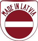 Made in Latvia badge sign. Vector illustration