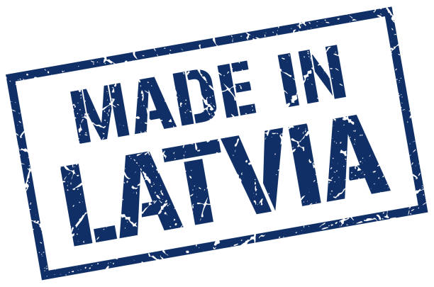 made in Latvia stamp made in Latvia stamp blue silhouettes stock illustrations