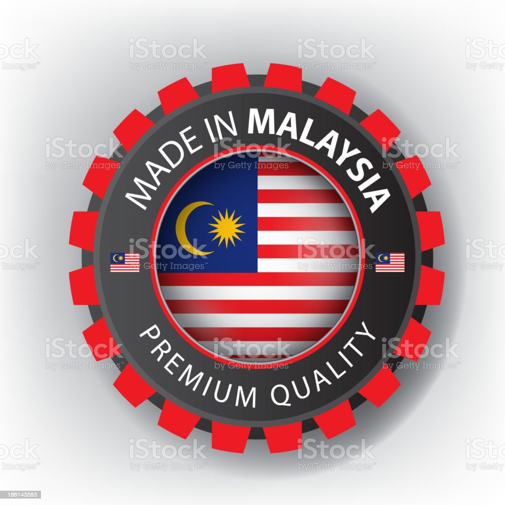 Made in MALAYSIA, Malaysian seal, Flag, (Vector) royalty-free made in malaysia malaysian seal flag stock vector art & more images of blue