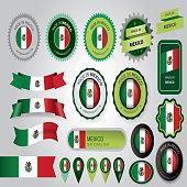 Made in Mexico Seal, Mexican Flag (Vector Art)