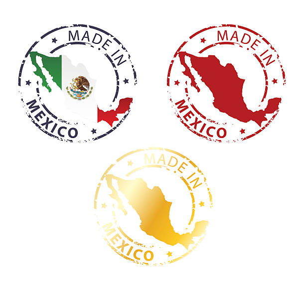 made in Mexico stamp vector art illustration