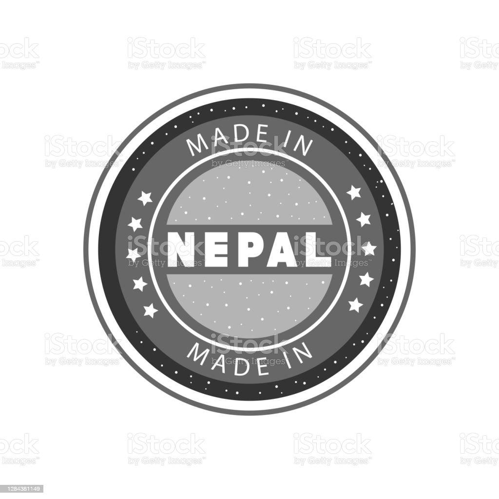 Made In Nepal Black Grunge Round Stamp Stock Illustration ...