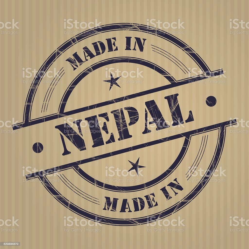 Made In Nepal Stock Illustration   Download Image Now   iStock