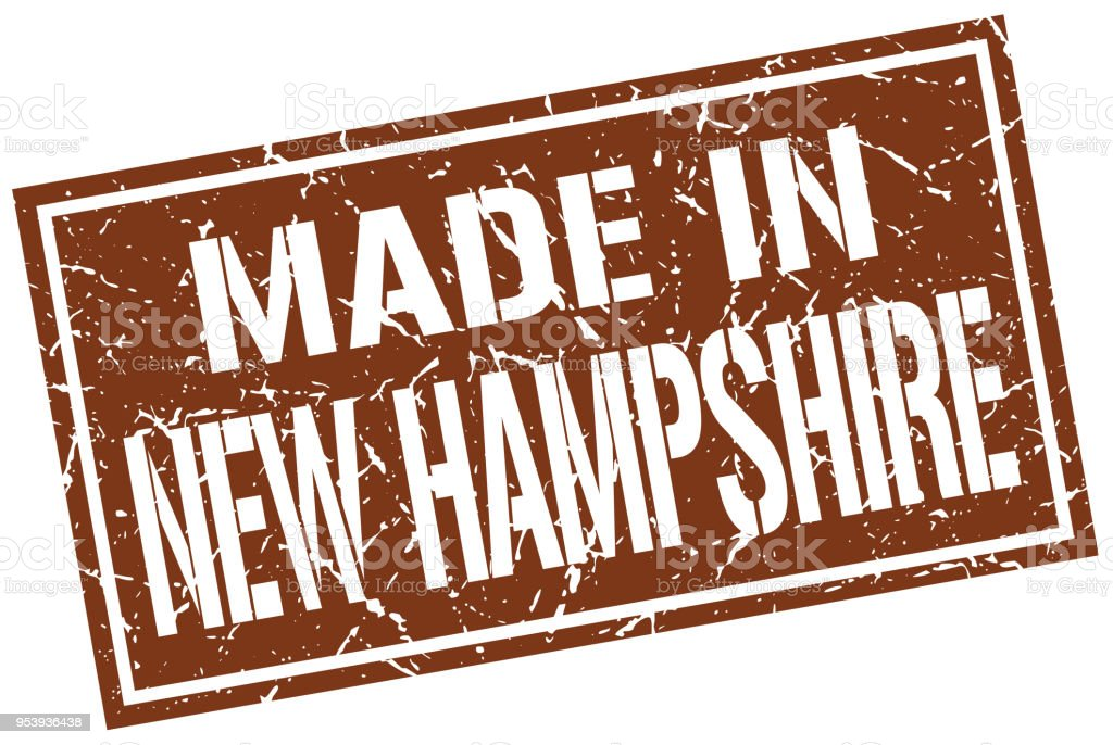 made in New Hampshire stamp vector art illustration