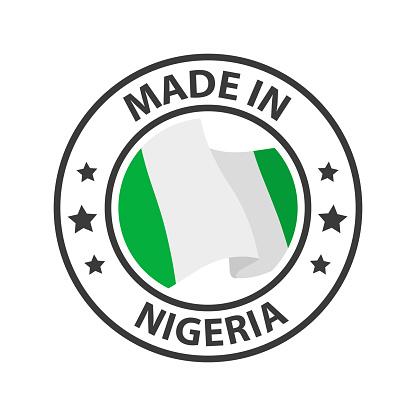 Made in Nigeria icon. Stamp sticker. Vector illustration