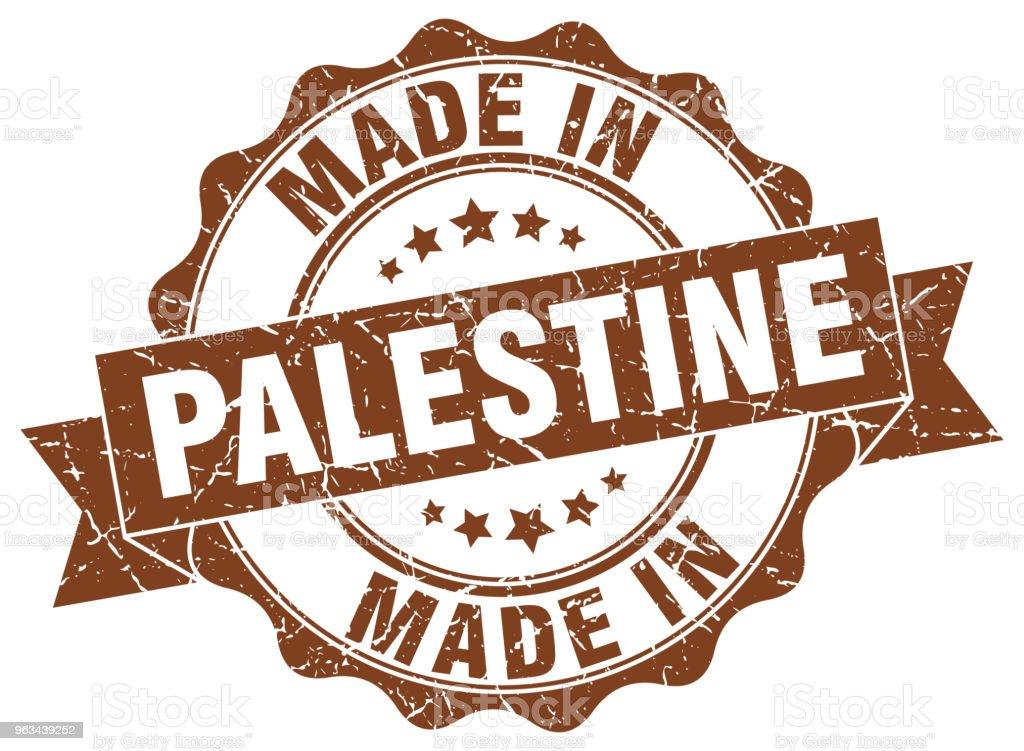 made in Palestine round seal - Grafika wektorowa royalty-free (Białe tło)