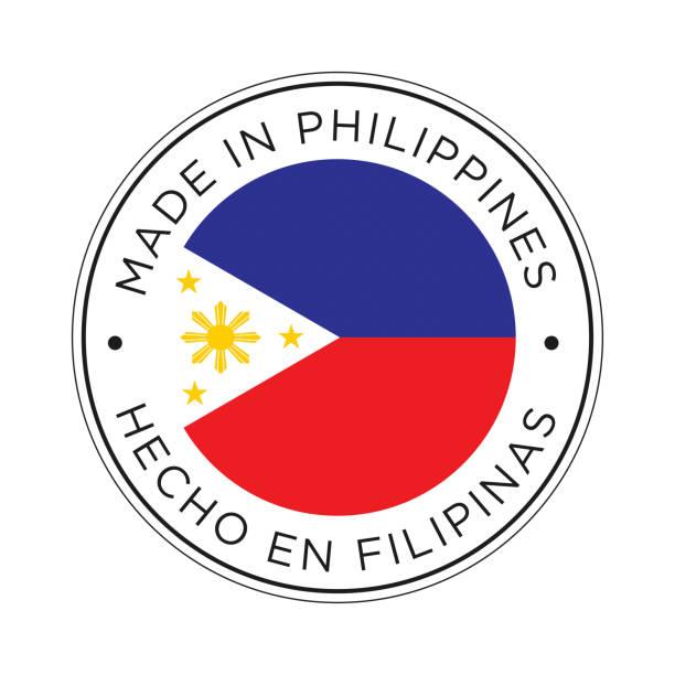stockillustraties, clipart, cartoons en iconen met gemaakt in de filippijnen icoon. - filipijnen