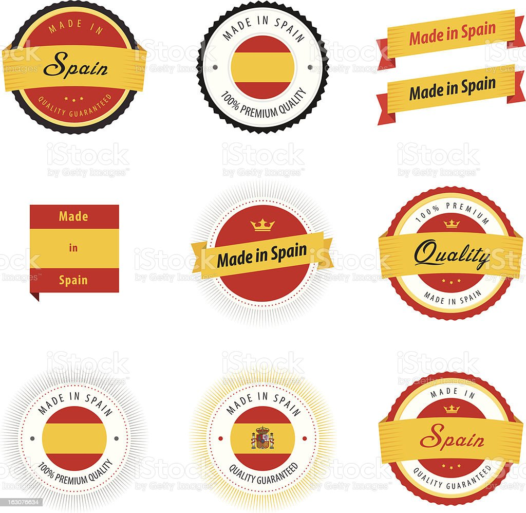 Made in Spain labels and stickers royalty-free made in spain labels and stickers stock vector art & more images of business