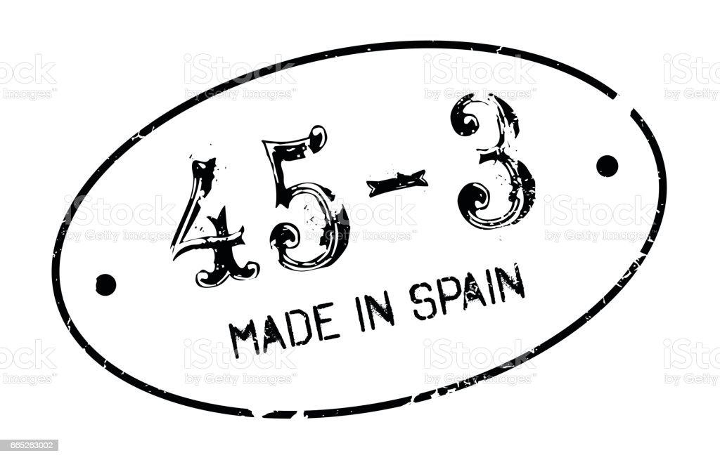 Made In Spain rubber stamp vector art illustration