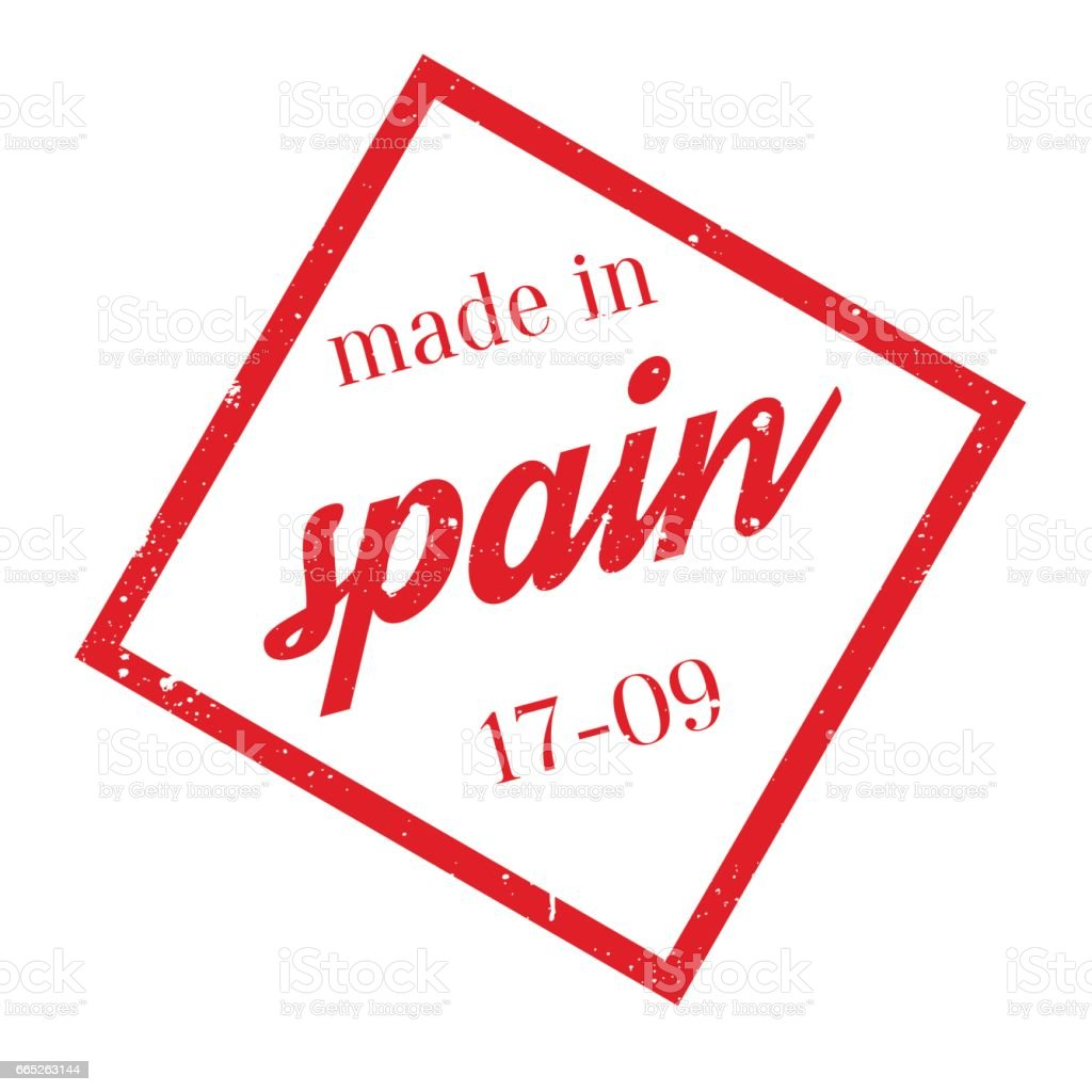 Made In Spain Rubber Stamp