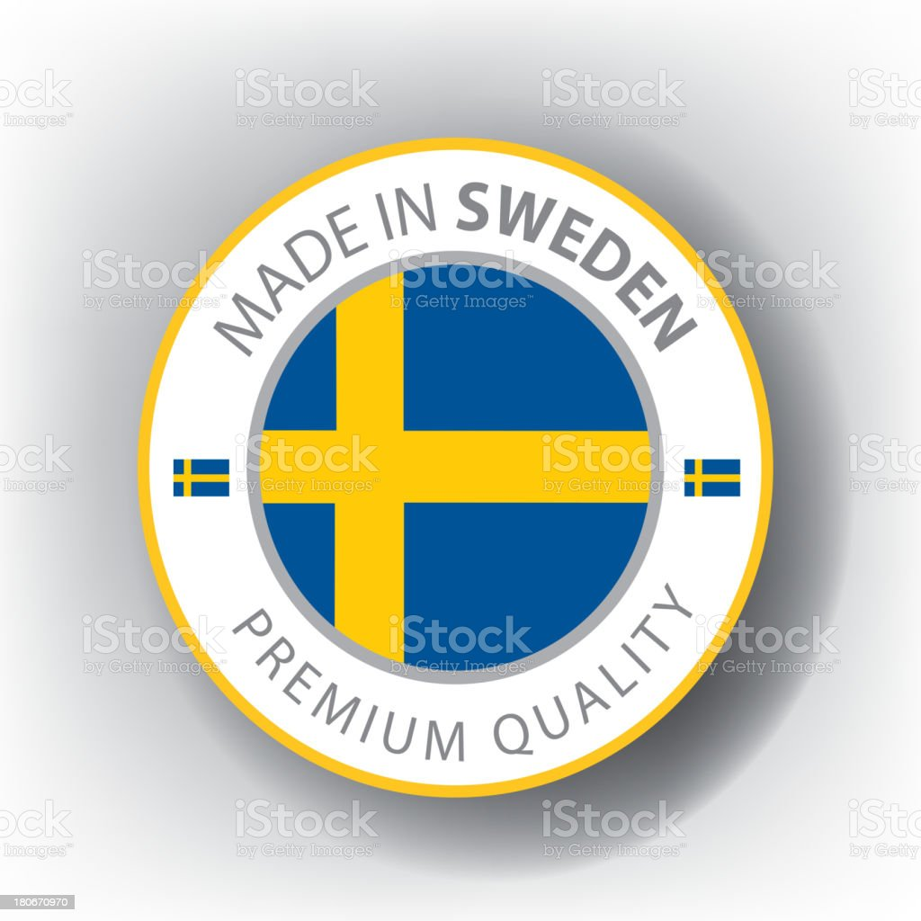 Made in Sweden, Swedish seal, Flag, (Vector) royalty-free made in sweden swedish seal flag stock vector art & more images of brooch