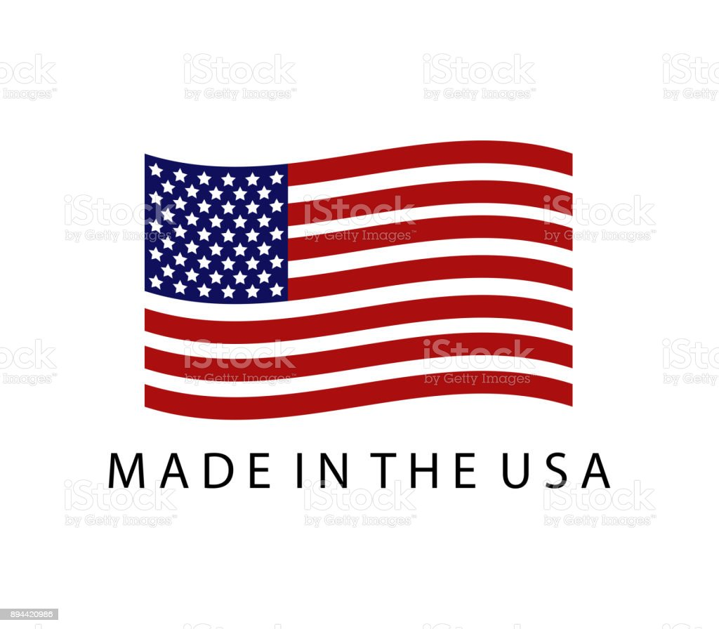 made in the United States vector art illustration
