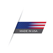 Made in the USA label, Product emblem stock illustration