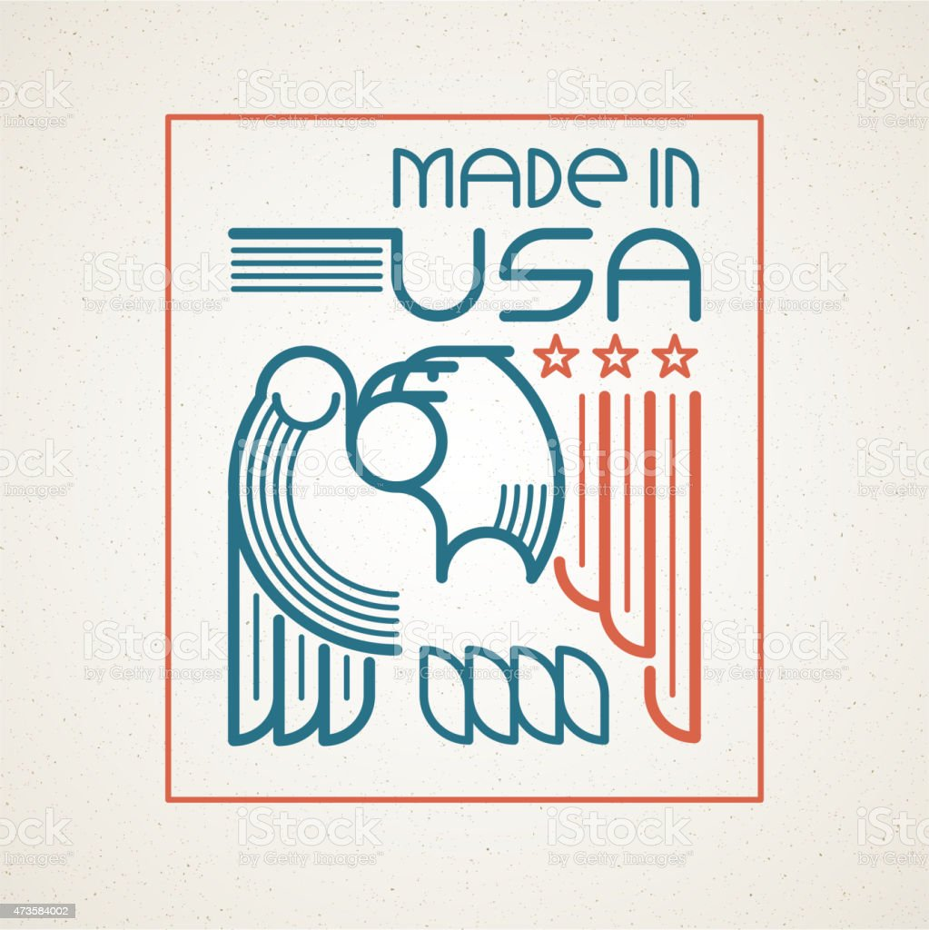 Made in the usa symbol with american flag and eagle stock vector made in the usa symbol with american flag and eagle royalty free stock vector art buycottarizona