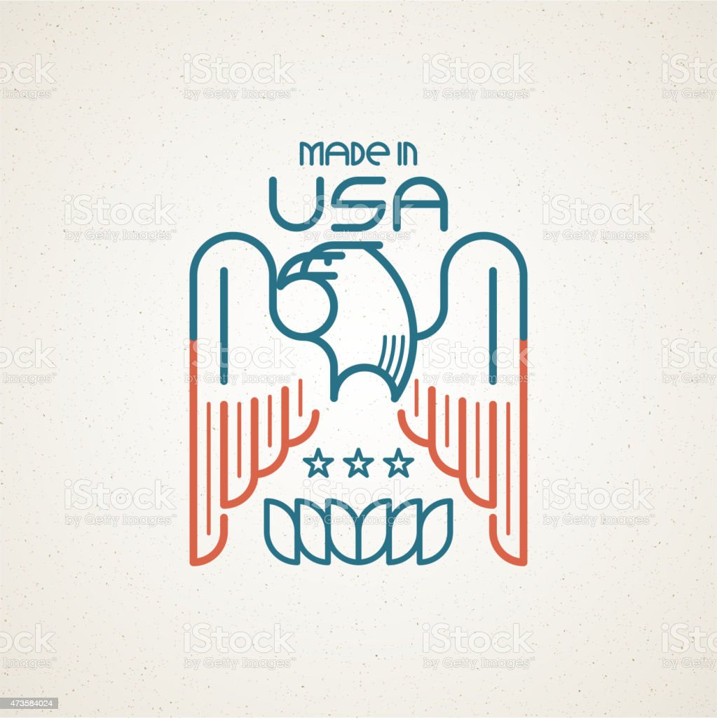Made in the usa symbol with american flag and eagle stock vector made in the usa symbol with american flag and eagle royalty free made in the buycottarizona