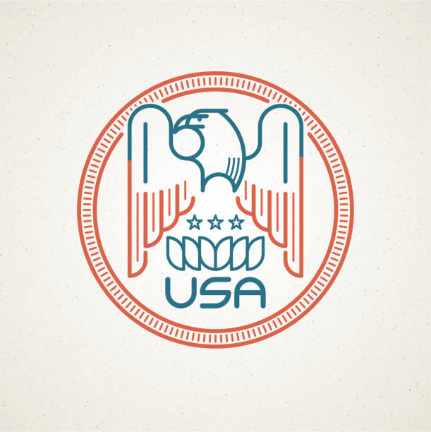 Made In The Usa Symbol With American Flag And Eagle Stock Vector Art