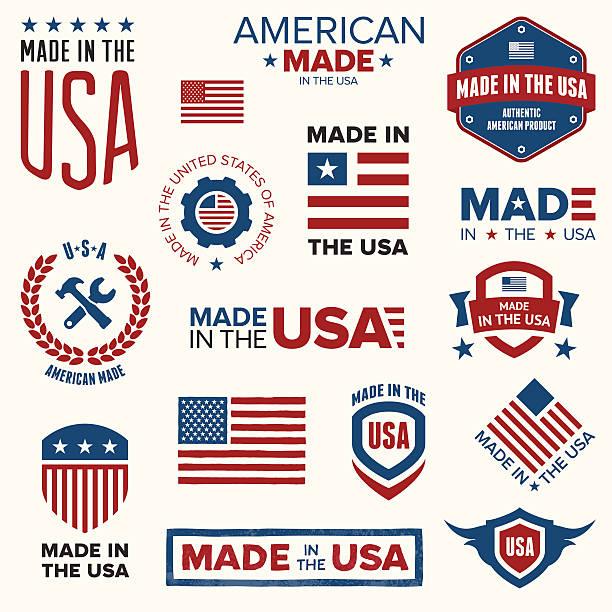 미국에서 만든 - 만들기 stock illustrations