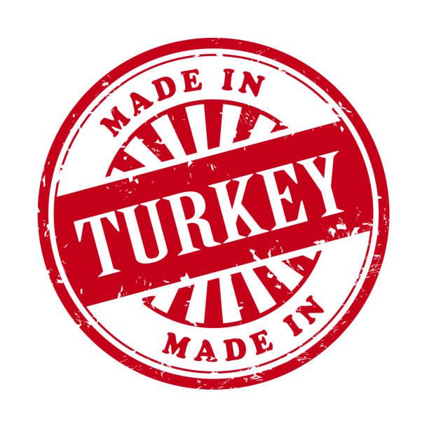 Made In Turkey Grunge Rubber Stamp Vector Art Illustration