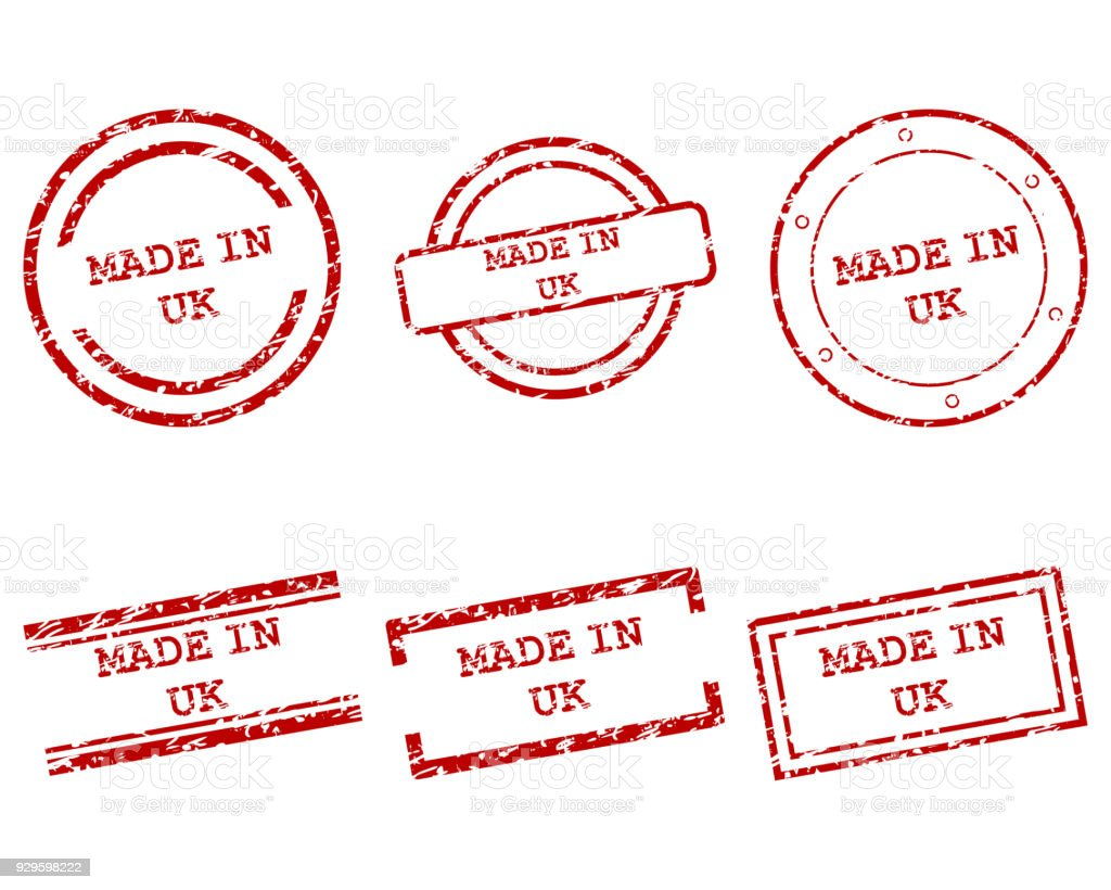 Made In Uk Stamps Stock Vector Art & More Images of Business ...