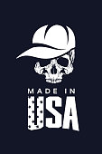 Made in United States of America vector t-shirt icon isolated on dark background.