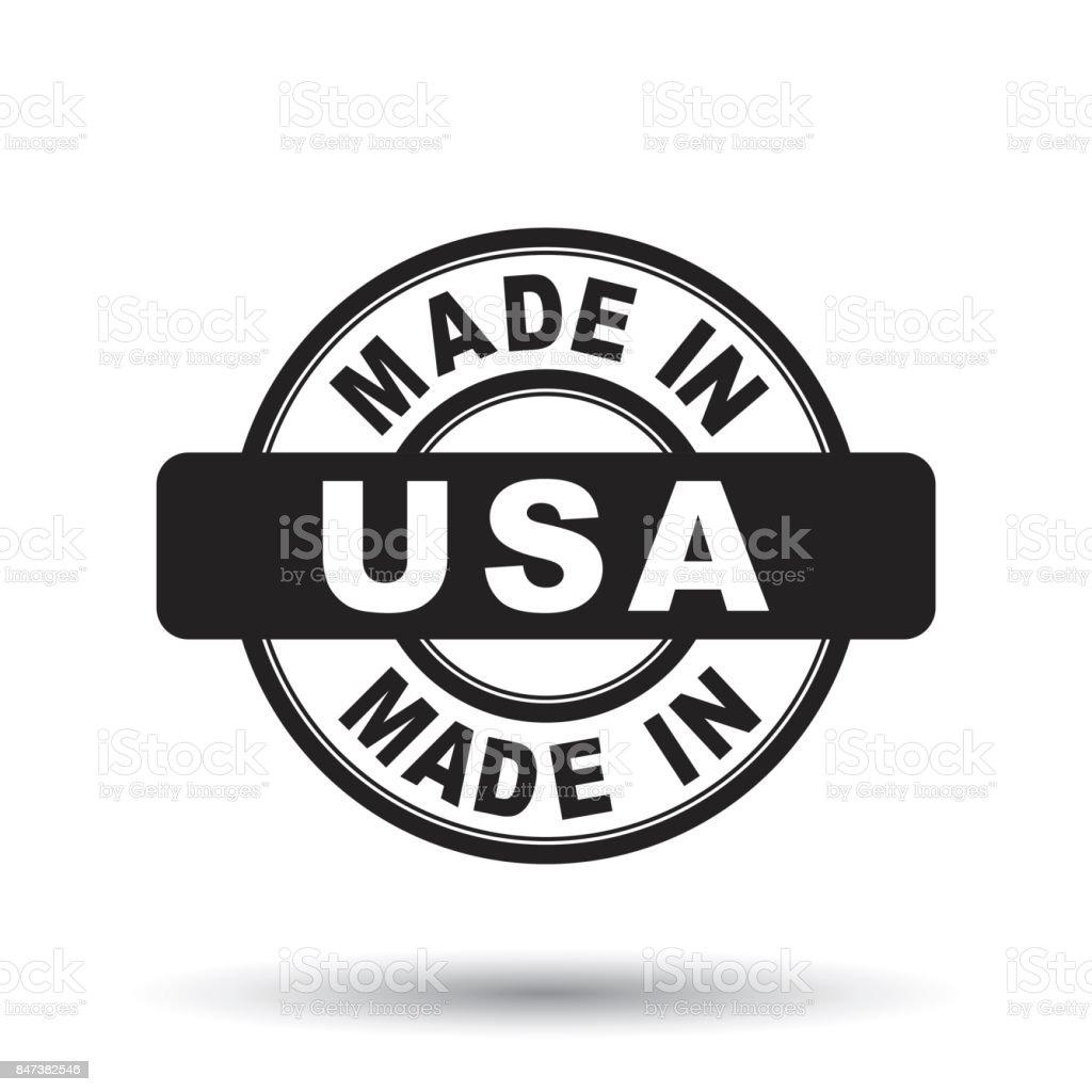 Feita nos EUA, selo da América negra. Ilustração vetorial no fundo branco - ilustração de arte em vetor