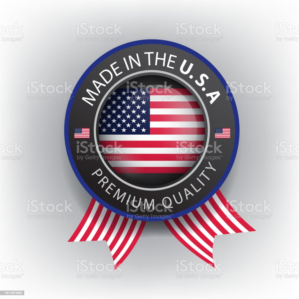 Made in USA, American ribbon, Flag, (Vector) royalty-free made in usa american ribbon flag stock vector art & more images of american flag