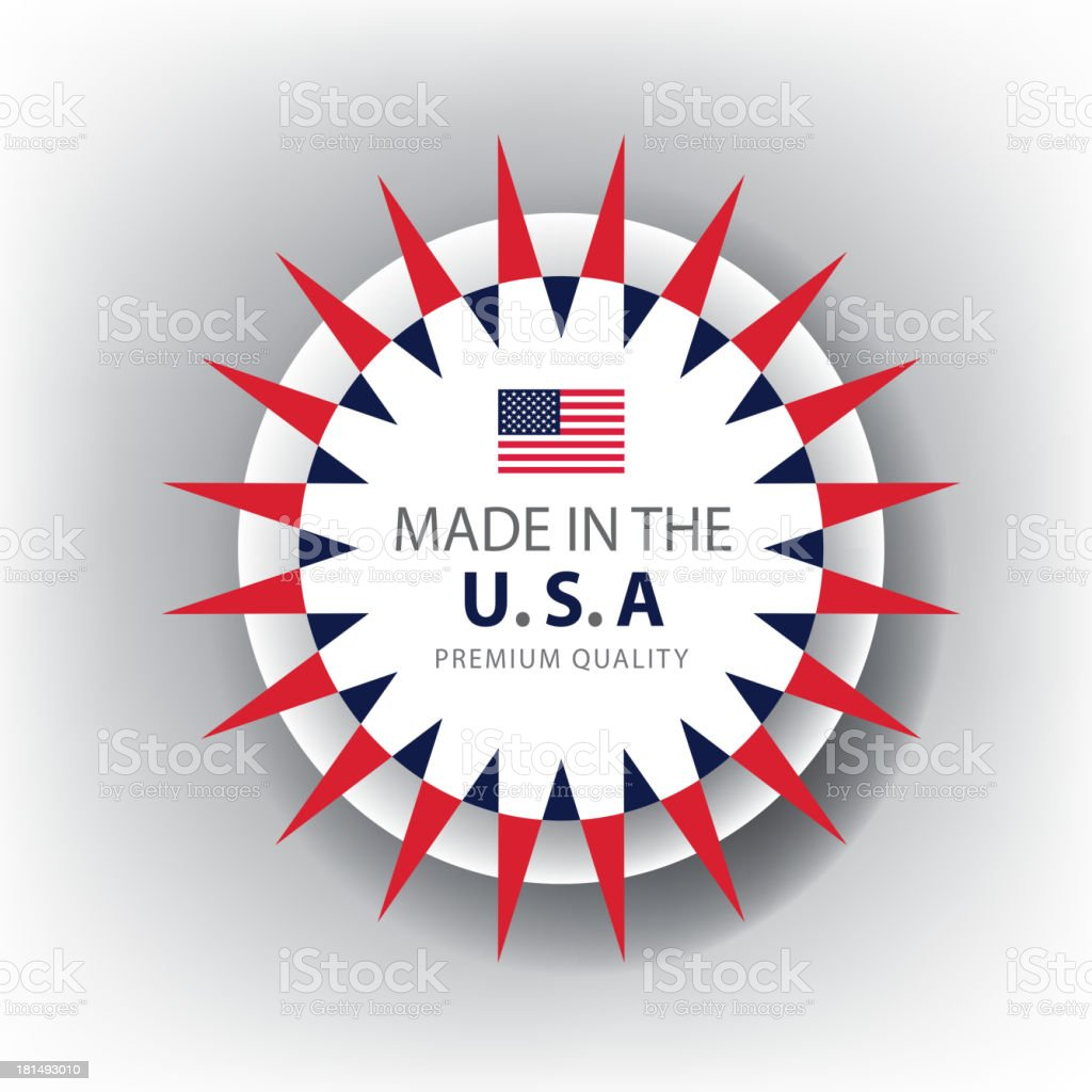 Made in USA, American seal, Flag, (Vector) royalty-free stock vector art