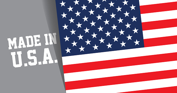 Made in USA headline with American Flag background