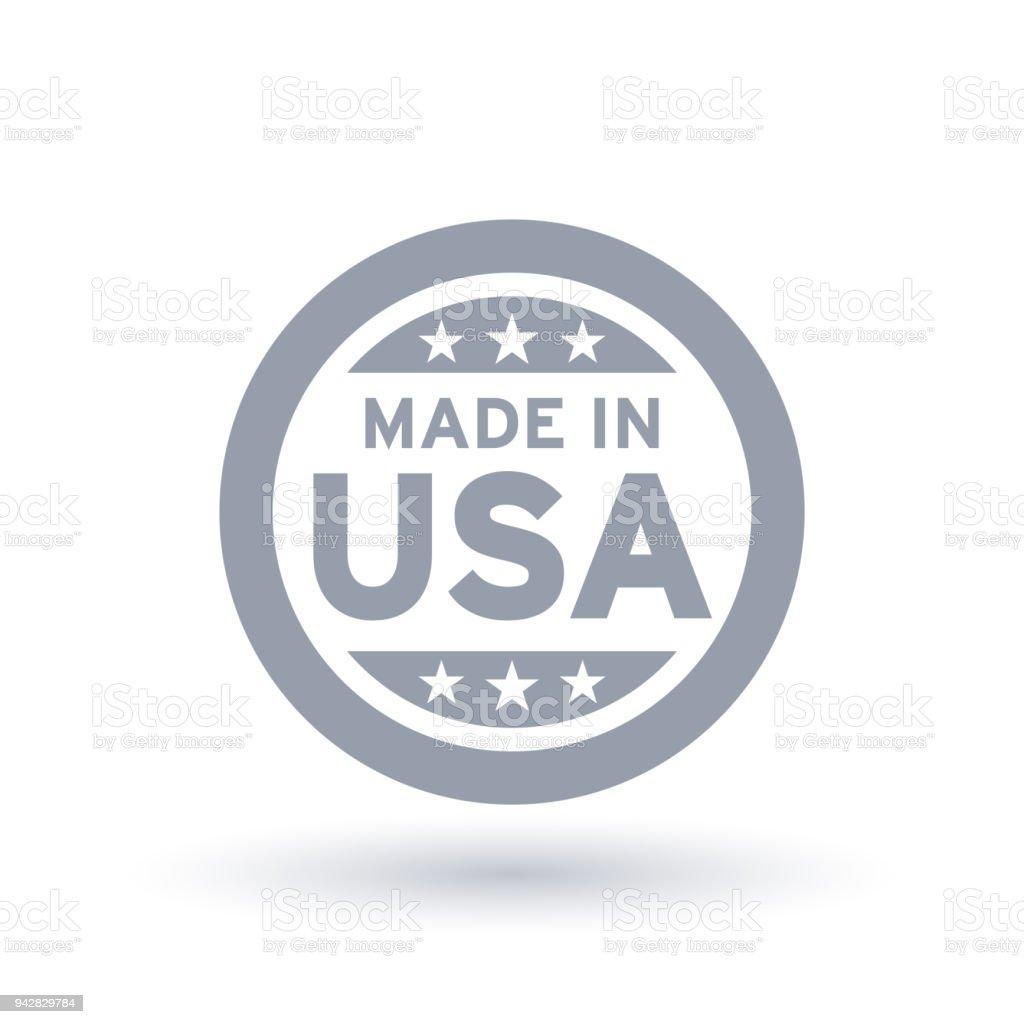 Made in USA-Symbol. Amerikanisches Produktsymbol. – Vektorgrafik