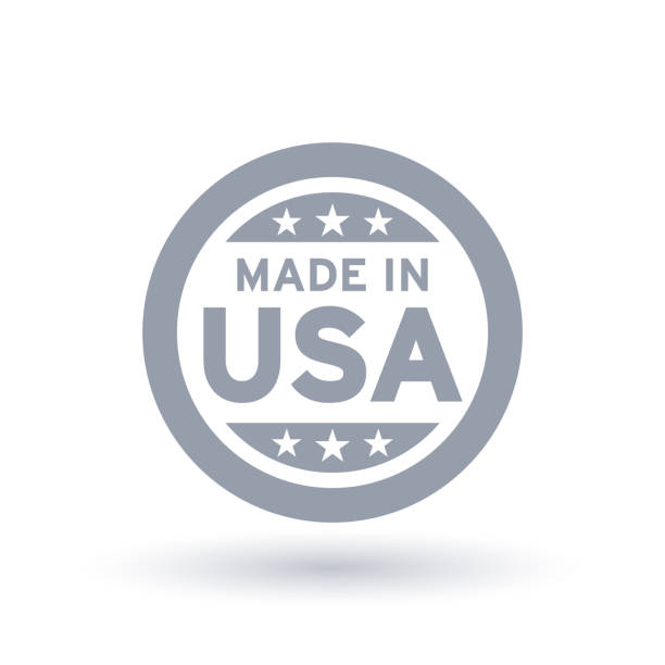 made in usa icon. american product symbol. - wykonać stock illustrations