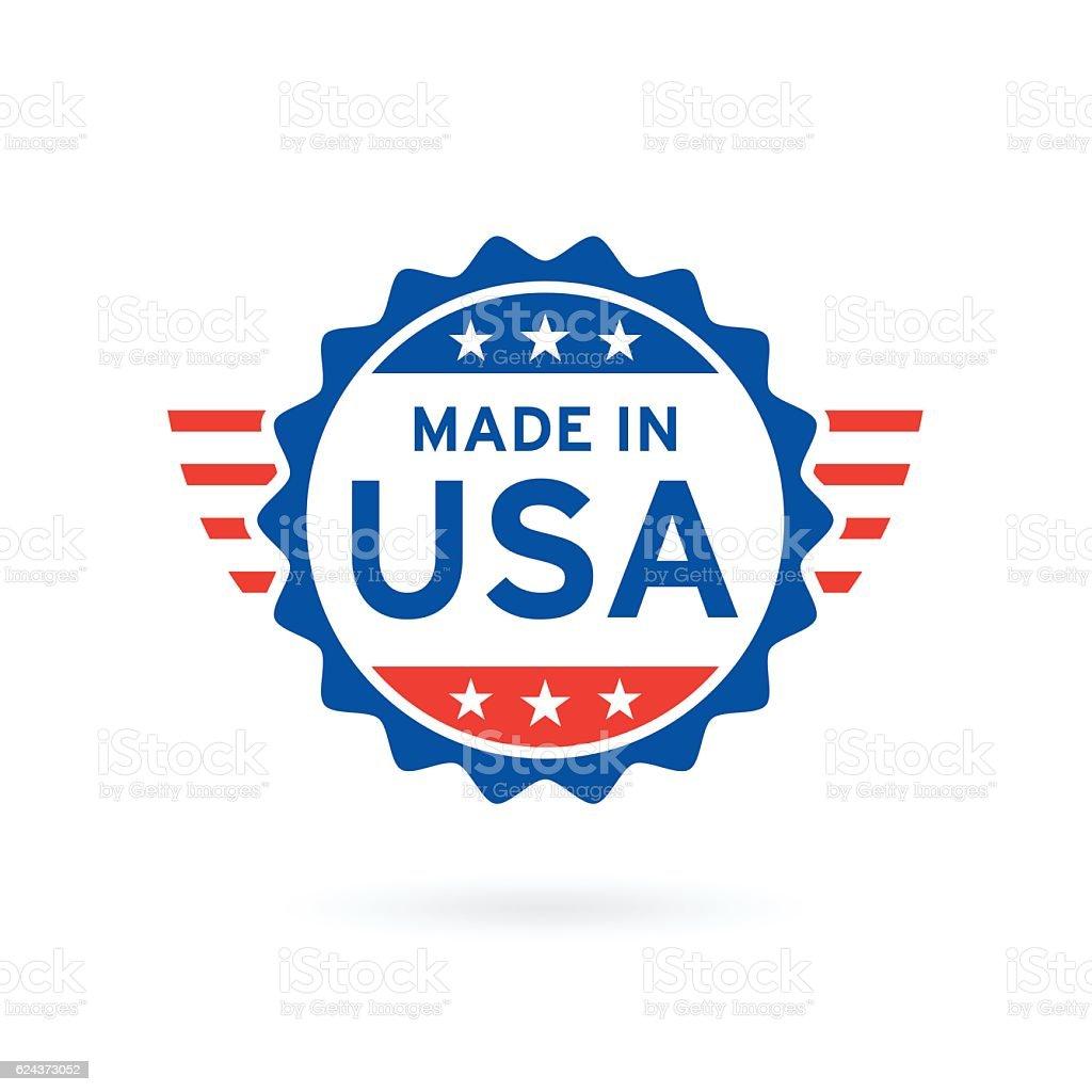 Made in USA icon concept badge design. Vector illustration. vector art illustration