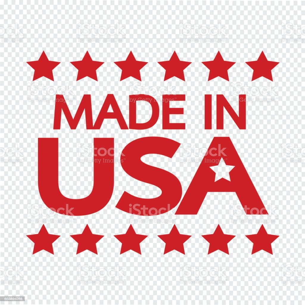 Made in USA Icon vector art illustration